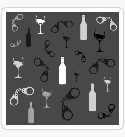 Wine and Crime Sticker
