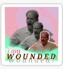 wounded frasier Sticker