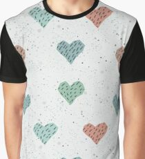 Cute Hearts  Graphic T-Shirt