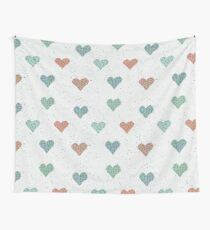 Cute Hearts  Wall Tapestry
