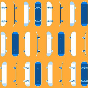 Many Blue Skateboards by AaronKinzer