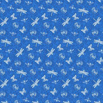 Blue Garden Watercolor Pattern by Missman