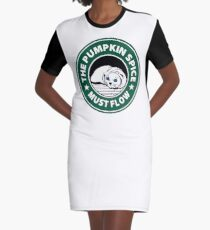 Dune Cat Coffee Graphic T-Shirt Dress