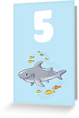 Underwater Sea Life Birthday Card For 5 Year Old