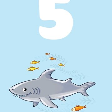 Underwater sea life birthday card for 5 year old by 0hmc
