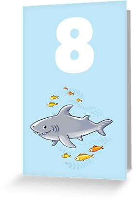 Underwater Sea Life Birthday Card For 8 Year Old