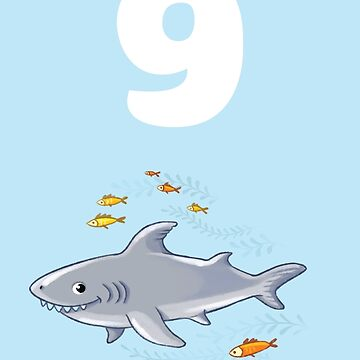Underwater sea life birthday card for 9 year old by 0hmc