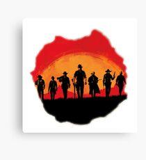 Red Dead Redemption Design Canvas Print