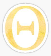 Yellow Watercolor Θ Sticker
