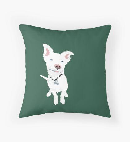 Puppy Eddie Throw Pillow