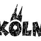 Köln Distressed mit Kölner Dom von theshirtshops