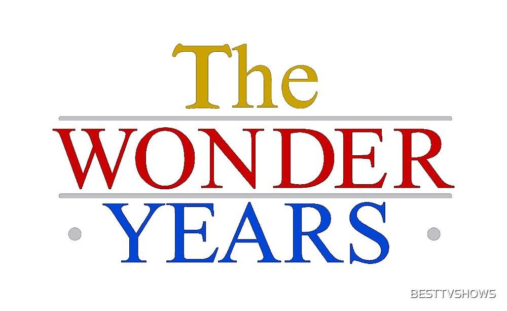 The Wonder Years TV Show Logo Standard White Backround
