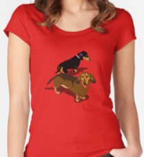 Dachshunds Women's Fitted Scoop T-Shirt