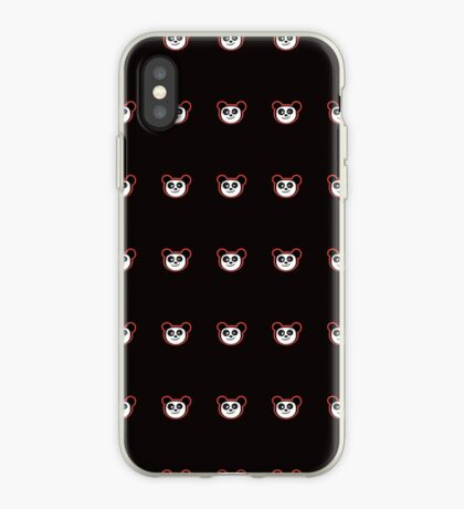Happy Panda Baby Blue iPhone Case