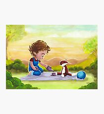 A Very So-Soft Picnic with Mr. Foxy! Photographic Print