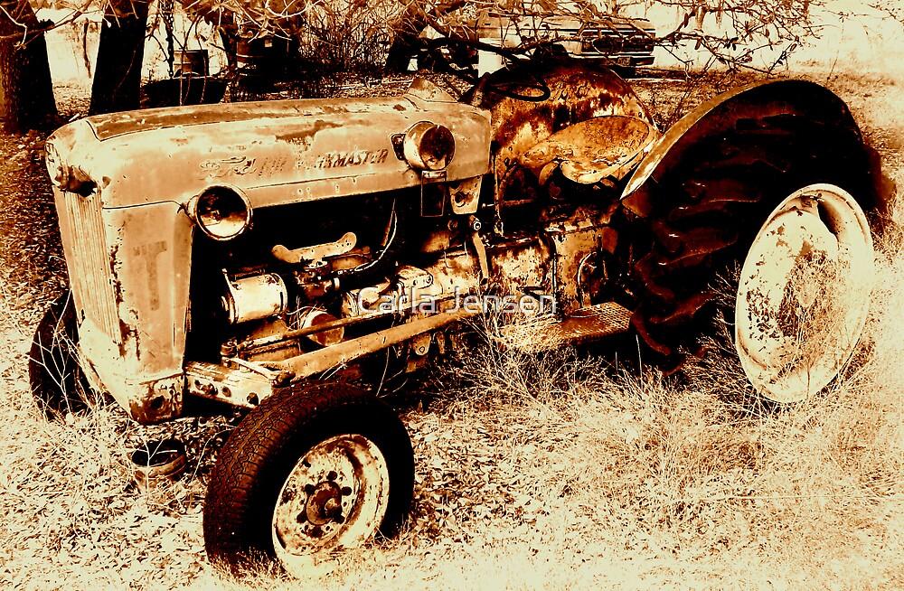 Old Ford RoadMaster Tractor          ( Bone Yard Series ) by Carla Jensen