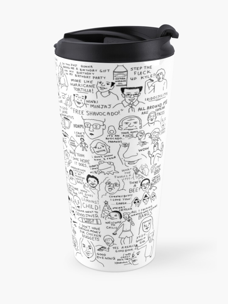 Alternate view of an Ultimate vine compilation but instead of a video its just terribly drawn  Travel Mug