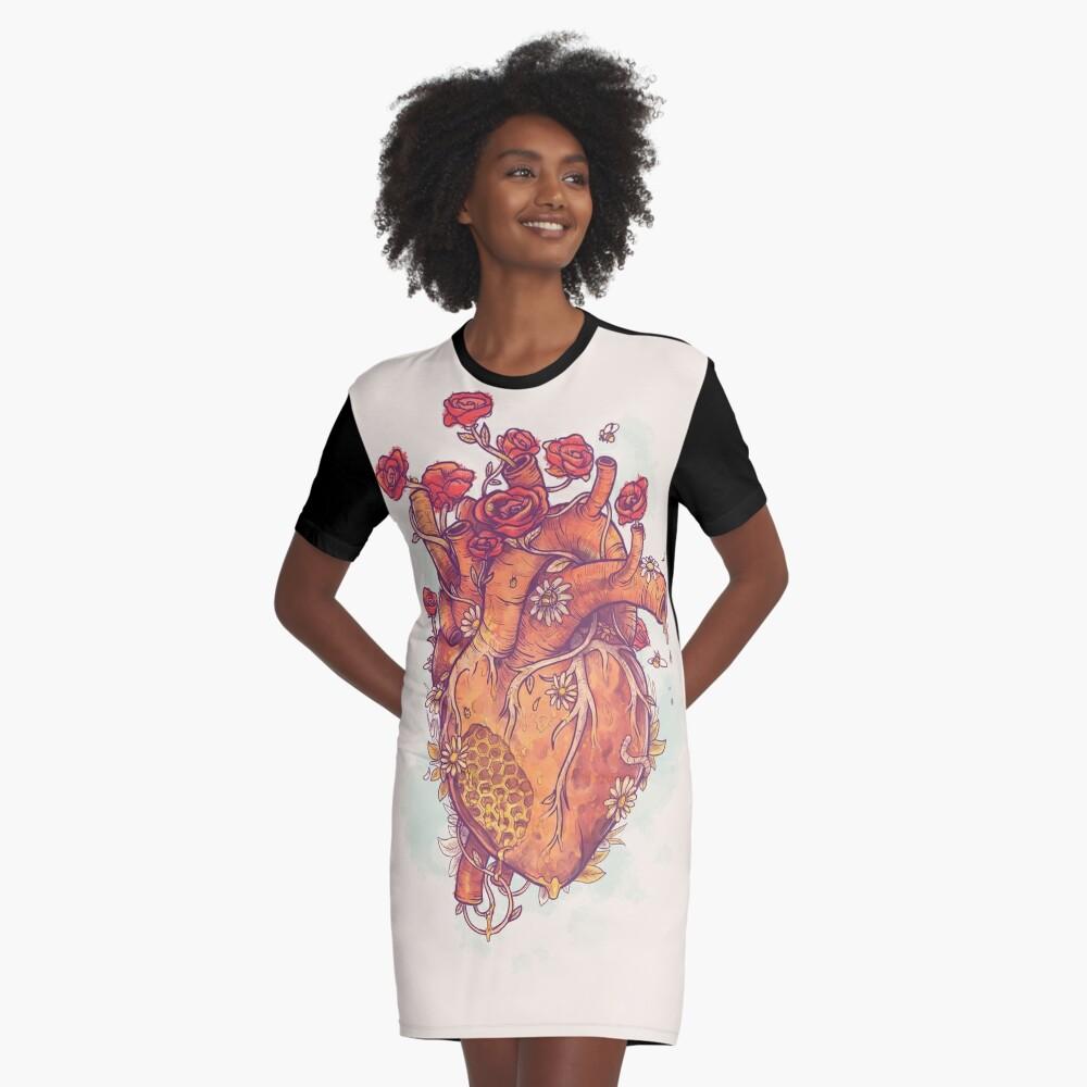 Sweet Heart Graphic T-Shirt Dress
