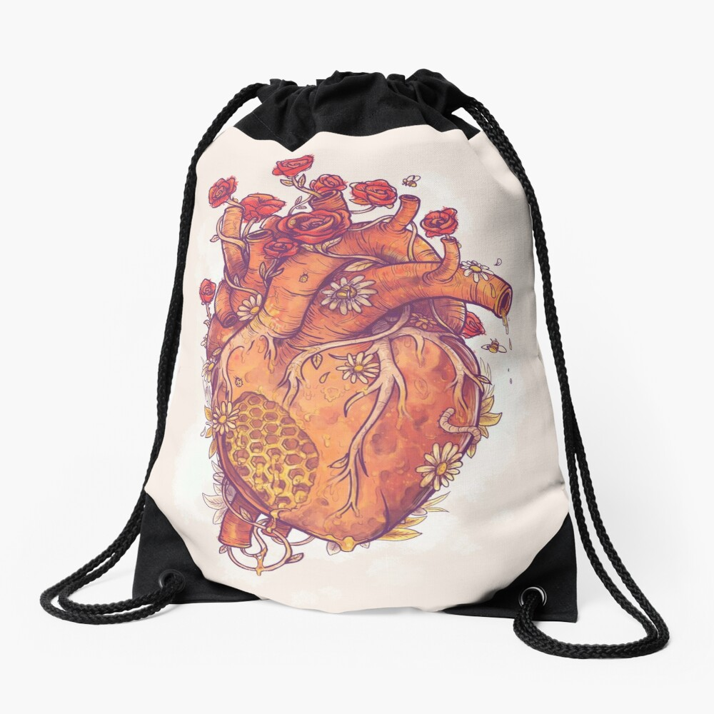 Sweet Heart Drawstring Bag