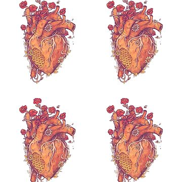 Sweet Heart Sticker 4-pack by MathijsVissers