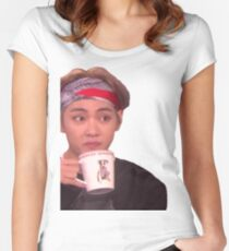 BTS V ELLEN MEME Women's Fitted Scoop T-Shirt