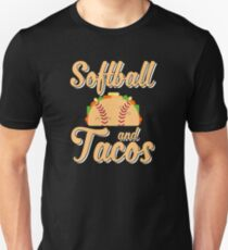 Softball And Tacos Funny Novelty Unisex T-Shirt