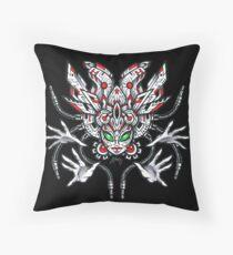 Cyber Aztek Throw Pillow