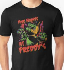 Five Nights At Freddy's Phantom Freddy Slim Fit T-Shirt