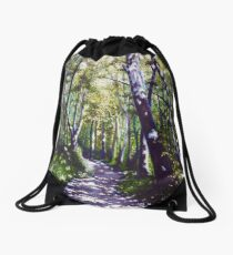 'Summer Woods (Moses Cone State Park, NC)' Drawstring Bag