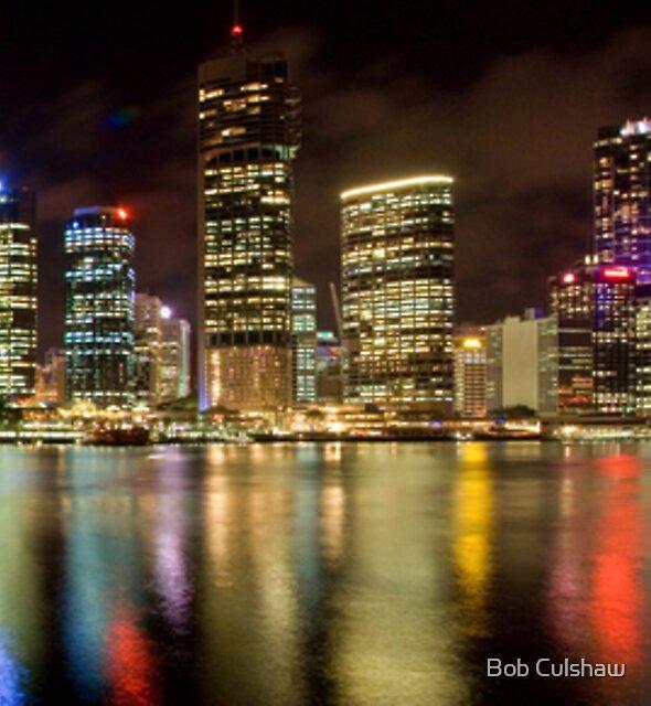 Brisbane Riverside, Australia, by Night by Bob Culshaw