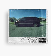 Good kid maad city cover Kendrick Lamar Canvas Print