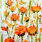 Orange Flowers by Jennifer J Watson