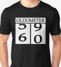 Oldometer 60th birthday 60 years Unisex T-Shirt
