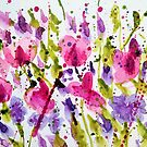 Sweet Peas, Purple and Pink by Jennifer J Watson