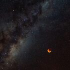 Blood Moon Milky Way by Russell Charters