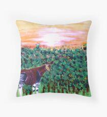 The Lonely Okapi Throw Pillow