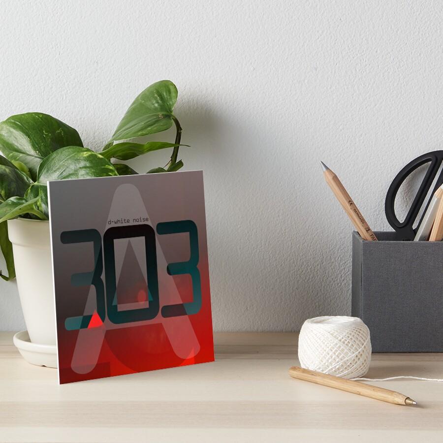 D-White Noise - A 303 Art Board Print