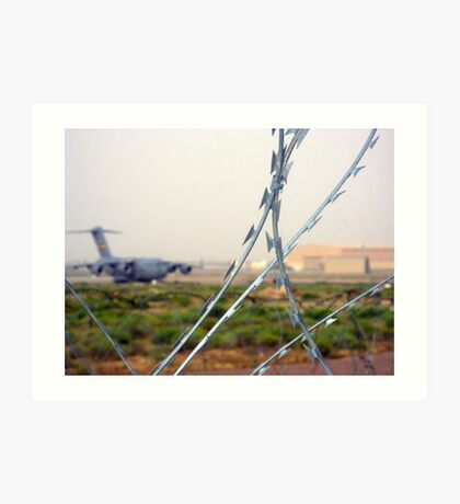 Behind the Wire Art Print