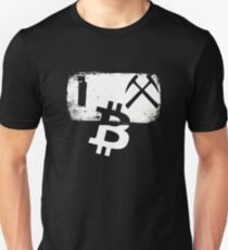 I Mine Bitcoin Novelty Bitcoin Mining Unisex T-Shirt