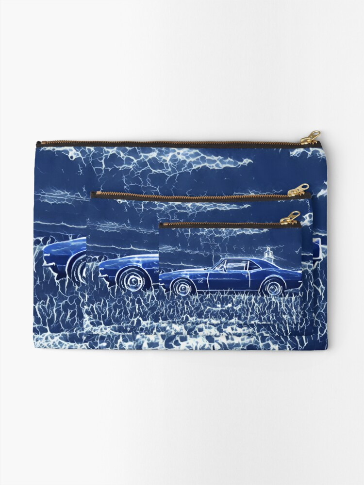 Alternate view of 1967 Chevrolet Camaro SS Blue Electric  Zipper Pouch