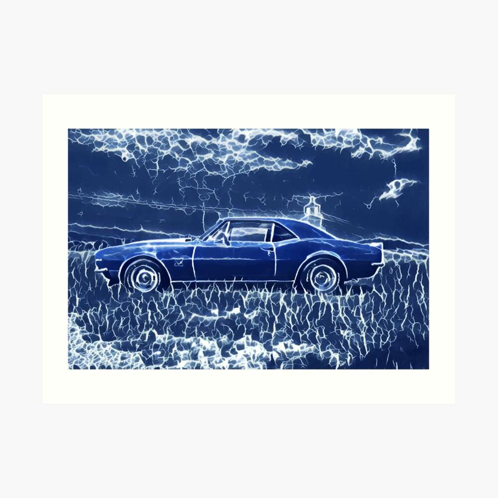 1967 Chevrolet Camaro SS Blue Electric  Art Print