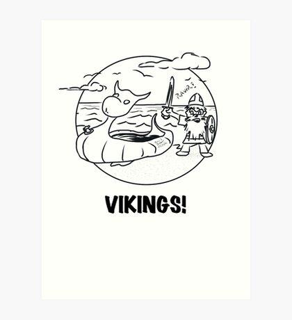 Vikings Rawr! Art Print