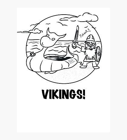 Vikings Rawr! Photographic Print