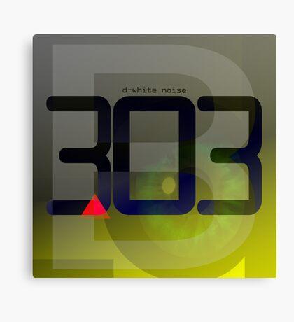 D-White Noise - B 303 Canvas Print