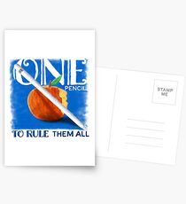 One Pencil to Rule Them All Postcards