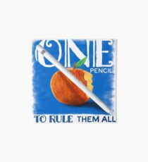 One Pencil to Rule Them All Art Board Print