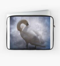 swan and clouds Laptop Sleeve