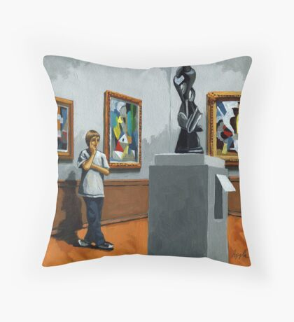 Abstract Position - boy portrait Throw Pillow