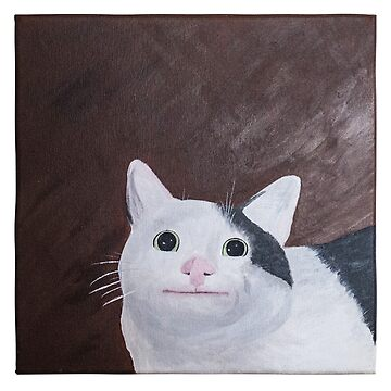 Polite Cat Acrylic Painting by Rosachew