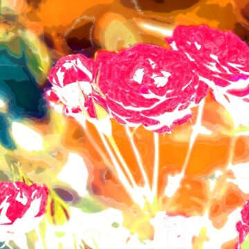 Psychedelic Roses by cuprum